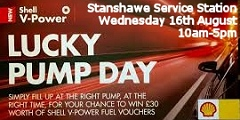 Stanshawe Service Station Lucky Pump Day August 2017